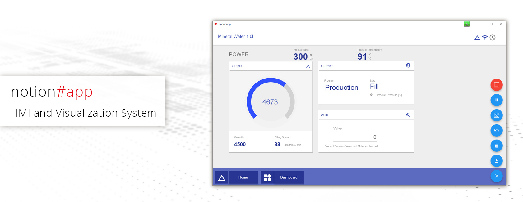 notion#app - HMI and Visualization System